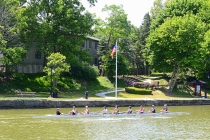 University of Rochester crew team on Erie Canal