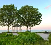 Gazebo at (closed) Crescent Beach Hotel, overlooking Lake Ontario.